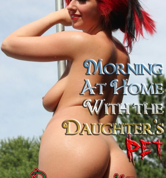 Morning at Home With the Daughter's Pet